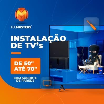 """Instalação de TV 50"""" até 70"""" com suporte de parede"""