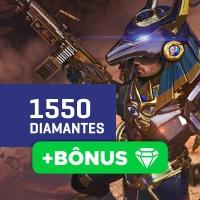 Gift Card Créditos para Free Fire: 1550 Diamantes + Bônus  - Produto Digital