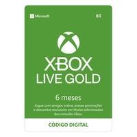 Gift Card Xbox Live Gold - 6 meses - Código Digital