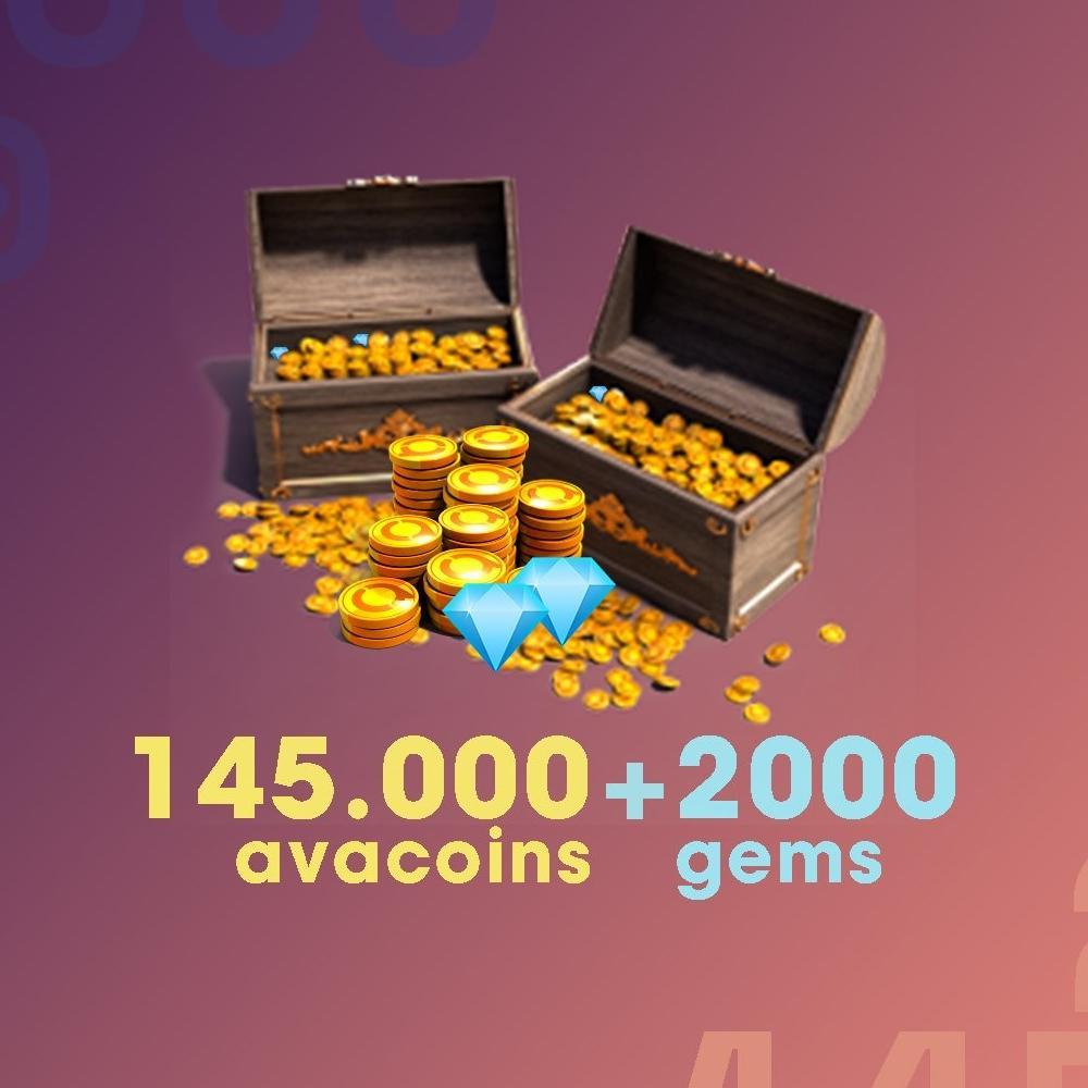 Gift Card Moeda para Jogo Avakin Life: 145.000 Avacoins + 2.000 Gemas - Produto Digital