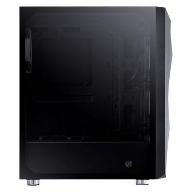 Gabinete Gamer PCYes Dimension RGB, 4x Fan (3x Frontais, 1x Traseira RGB), Lateral em Vidro Temperado, Preto - 33876