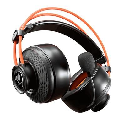 Headset Gamer Cougar Immersa Ti, Driver 40mm, Conexão 3.5mm, para PC/Console/Mobile, Cancelamento de Ruído, Preto/Laranja - 3H300P40T.0001