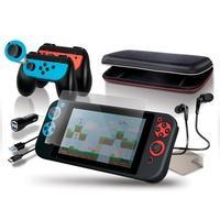 Kit de Partida dreamGer para Nintendo Switch 10 em 1, Protetor de Tela, Carregador Veicular, Case, Fones, Cabo, Punho Comfort - DGSW-6502
