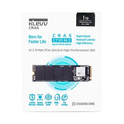 SSD KLEVV CRAS C710, 1TB, M.2 NVMe, Leitura 2100MB/s e Escrita 1650MB/s - K01TBM2SP0-C71