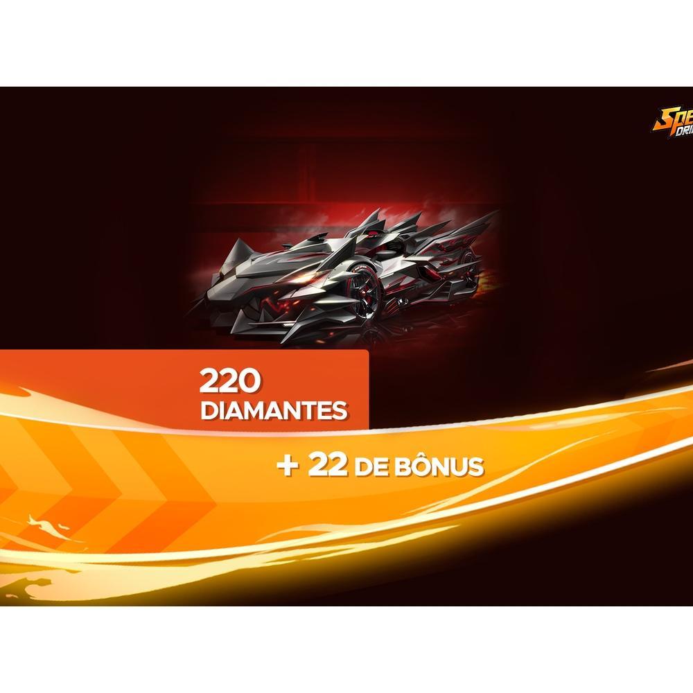 Gift Card Digital Speed Drifters - 220 Diamantes + 22 de Bônus