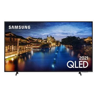 Smart TV Samsung 55´ 4K QLED 55Q60A, Tela Infinita, Processador IA, HDR10+, Design Slim, Alexa Built In - QN55Q60AAGXZD