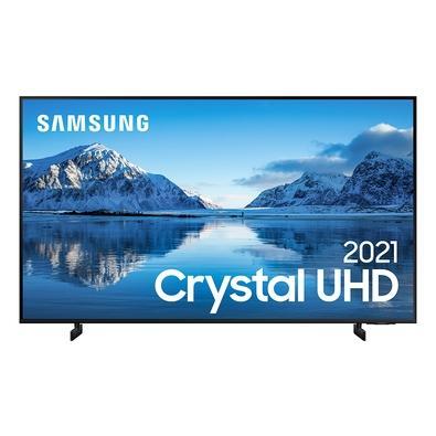 Samsung Smart TV 75´´ Crystal UHD 4K 75AU8000, Dynamic Crystal Color, Borda Infinita, Visual Livre de Cabos, Alexa Built In - UN75AU8000GXZD
