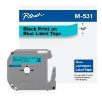 Fita Brother M531, 12MM, Compatível com PT70, PT70BM e PT80, Preto/Azul