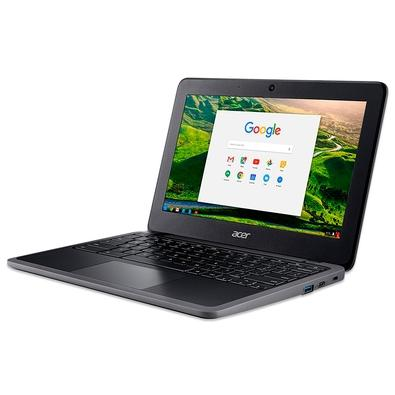 Chromebook Acer C7 Intel Celeron N4020, 4GB, 32GB e.MMC, 11,6´ Touchscreen, Chrome OS, Preto - C733T-C2HY
