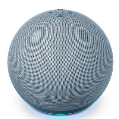 Echo (4ª Geração) com Alexa, Amazon Smart Speaker Azul - B085H9Z4W1