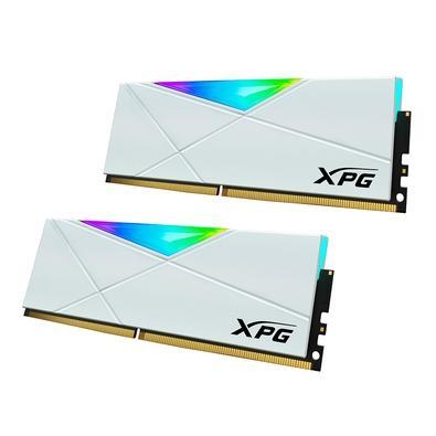 Memória XPG Gammix D50, 32GB (2x16GB), 3000MHz, DDR4, RGB, CL 16, Branco - AX4U300016G16A-DW50