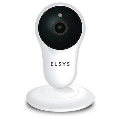 Câmera de Segurança Elsys Wi-Fi, Micro SD de Até 128GB, Full HD, Visão Noturna 10M, Branco/Preto - Elsys - ESC-WY3F
