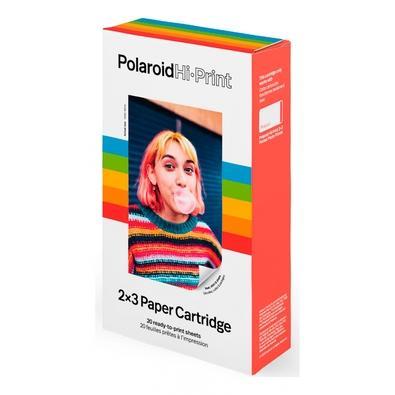 Cartucho Polaroid com 20 Papéis Fotográficos Adesivos Hi-Print 2x3 - 6089