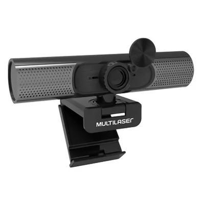 Webcam Multilaser Ultra HD 2K, USB, Foco Automático e Microfone com Cancelamento de Ruído, Preto - WC053