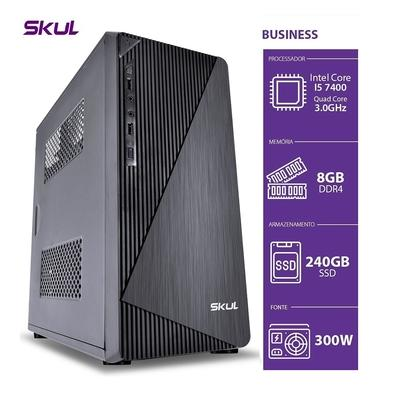 Computador Business Skul B500 Intel Core i5-7400, 8GB DDR4, SSD 240GB, HDMI/VGA, Fonte 300W, Linux - B74002408D4K