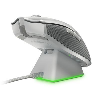 Mouse Sem Fio Gamer Razer Viper Ultimate, Chroma, com Dock, Sensor Óptico, 8 Botões, 20000DPI, Mercury White - RZ01-03050400-R3M1