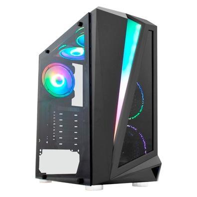 PC Gamer NTC VULCANO II Powered By Asus Intel Core i3-10100, 8GB RAM, SSD 480GB, RGB, Linux, Preto - 7172