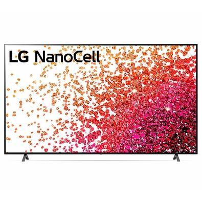 Smart TV 75 4K UHD LG NanoCell, HDMI, Bluetooth, 60Hz, Inteligência Artificial AI ThinQ, Google Alexa, Preto - 75NANO75SPA