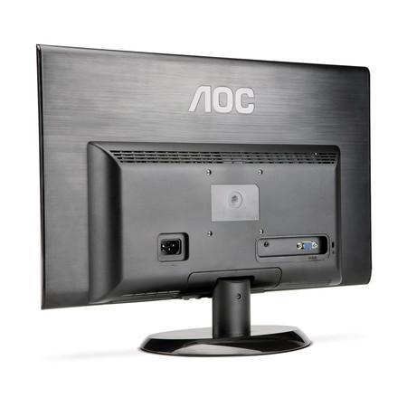 Monitor LED AOC 18.5 Widescreen, E950Swn Slim - Black Piano PR10