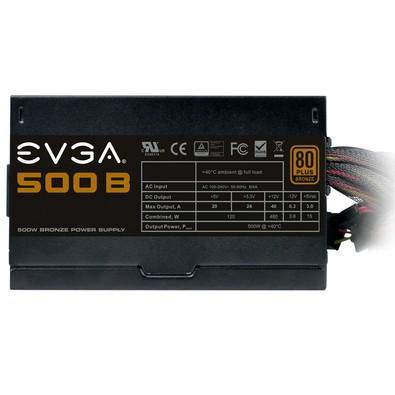 Fonte EVGA 500W 80 Plus Bronze 100-B1-0500-KR