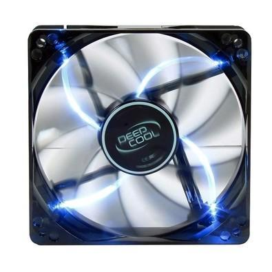 Cooler FAN DeepCool Wind Blade 120 12x12cm Super Silent Big Airflow Blue LED DP-FLED-WB120