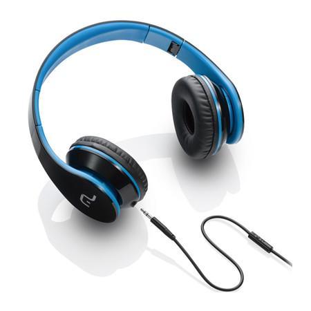 Headphone Multilaser com Microfone P2 Preto e Azul - PH113