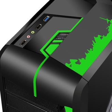 Gabinete Multilaser Gamer Cyborg sem Fonte GA133