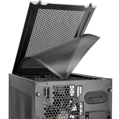 Gabinete Thermaltake Core X1 ITX Cube Case Com Janela Lateral Acrilica CA-1D6-00S1WN-00 Black