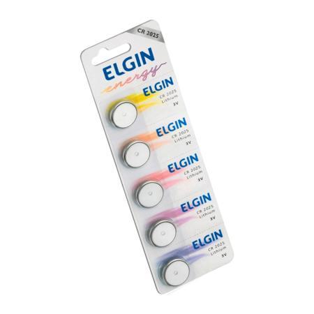 Bateria Botão de Lítio Elgin, 3V - CR2025