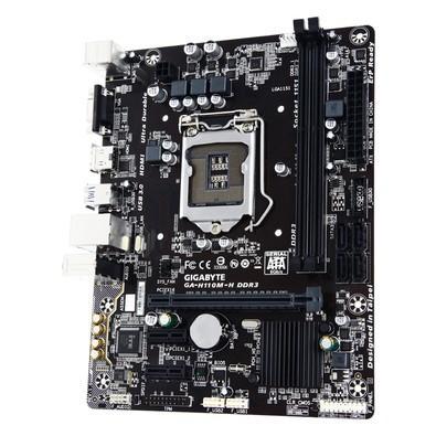 Placa-Mãe GIGABYTE p/ Intel LGA 1151 mATX GA-H110M-H DDR3, HDMI, Dual UEFI BIOS,SATA 6Gb/s ,USB 3.0, LAN Gbe, Áudio HD 7.1