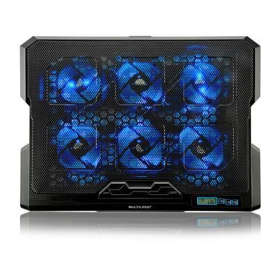 Base para Notebook Multilaser Hexa com 6 Coolers até 17´ - AC282