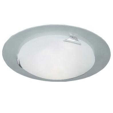 Plafon disco de vidro garra vértice Fosco - 2801 GDE Attena