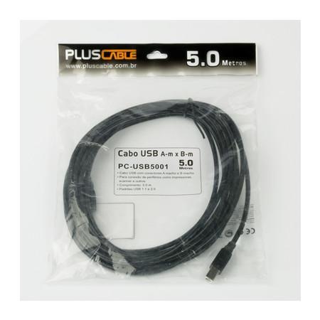 Plus Cable Cabo USB A Macho x B Macho 5.0 m PC-USB5001