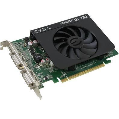 Placa de Vídeo VGA EVGA NVIDIA GeForce GT 730 4GB DDR3 128Bits - 04G-P3-2739-KR