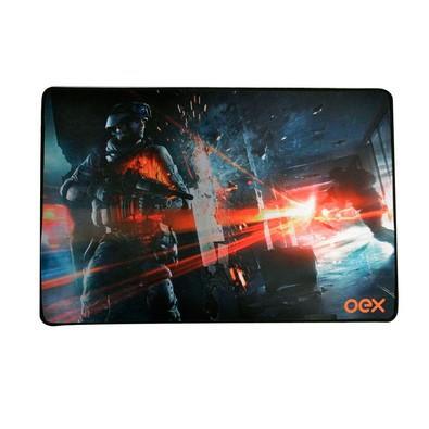 Mousepad Gamer OEX Game Battle AntiSkid, Speed, Grande (500x330mm) - MP301