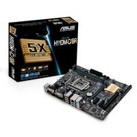 Placa-Mãe ASUS p/ Intel LGA 1151 6/7 geração mATX H110M-C/BR,2x DDR4 HDMI/VGA USB3.0,porta COM,5X Protection,header LPT,Chassis Intrusion