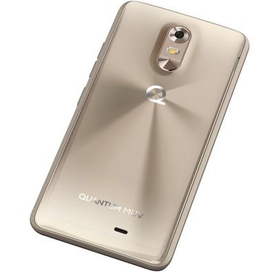 Smartphone Quantum MUV Mirage Gold, Quad Core, Android 6.0, Tela 5.5´, 16GB, 13MP, 4G, Dual Chip, Desbl - Dourado