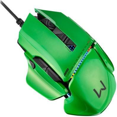 Mouse Gamer Warrior 8200DPI com Vibração e Estojo de Peças - MO247