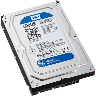 HD WD SATA 3,5´ Blue PC 500GB 7200RPM 32MB Cache SATA 6.0Gb/s - WD5000AZLX