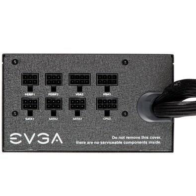 Fonte EVGA 750W 80 Plus Bronze, Semi Modular, PFC Ativo - 110-BQ-0750-V