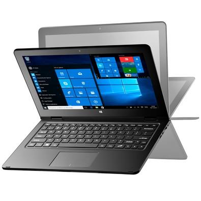 "Notebook Multilaser 2 em 1 M11W Tela 11,6"", Touch Screen Intel Atom 32GB 2GB Windows 10 Cinza - NB258"