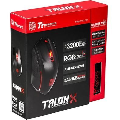 Kit Gamer Thermaltake - Mouse Talon X, RGB + Mousepad Control, Pequeno - MO-CPC-WDOOBK-01
