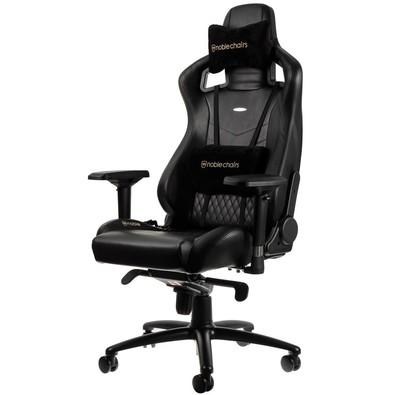 Cadeira Gamer Noblechairs EPIC Leather, Black - NBL-RL-BLA-001