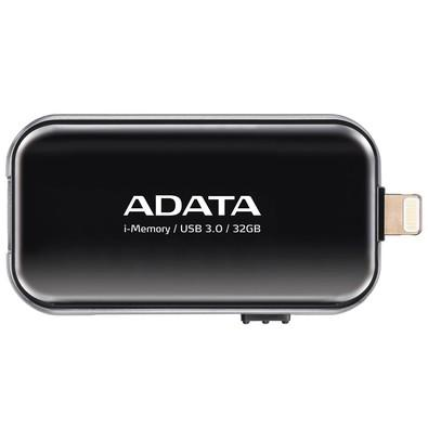 Pen Drive Adata p/ iPhone, iPad e iPod 32GB - AUE710-32G-CBK Preto
