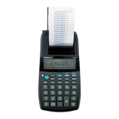 Calculadora Procalc  Impressão, 12 dígitos LP18 Preta