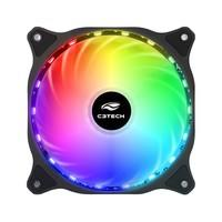 Cooler Fan C3Tech Storm 12cm c/ LED Multicolorido - F9-L150RGB