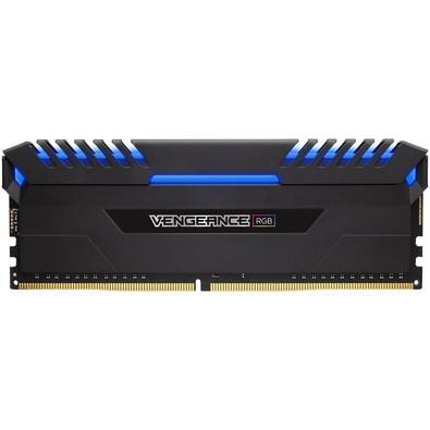 Memória Corsair Vengeance RGB, 16GB (2x8GB), 3000MHz, DDR4, CL15, Preto - CMR16GX4M2C3000C15