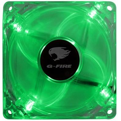 Cooler Fan G-Fire 8cm com LED Verde EW0408N