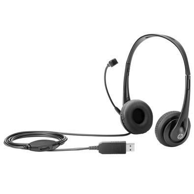 Headset HP USB Preto - T1A67AA