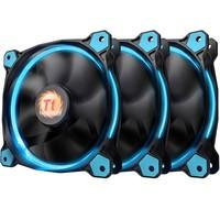 Cooler FAN Thermaltake RIING 12cm LED Radiator Blue Pack com 3 CL-F055-PL12BU-A